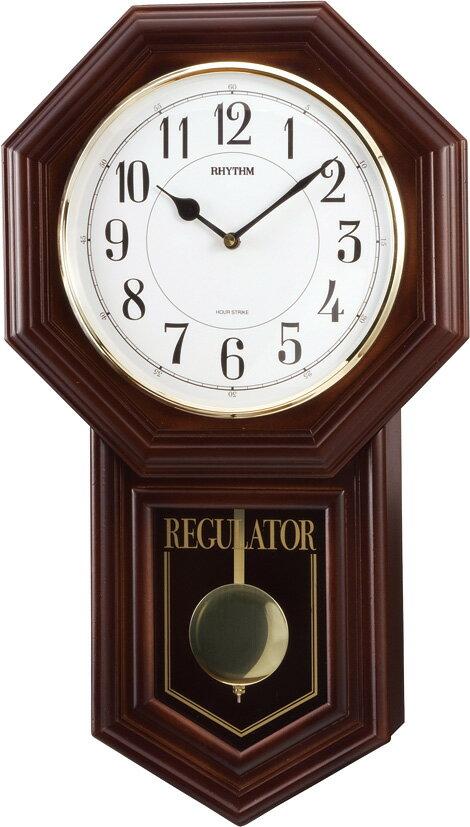 振り子時計 報時 リズム ベングラーR 4MJA03RH06 (シチズン時計) リズム時計(CITIZEN) 掛け時計 名入れ