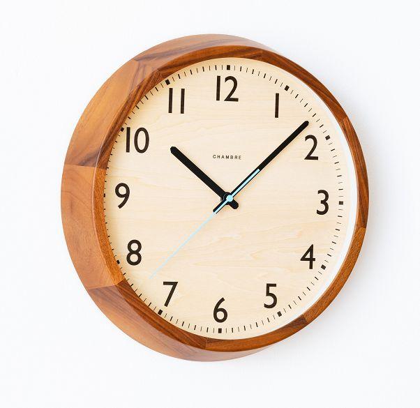 DROP CLOCK シャンブル掛け時計 電波時計 ウォルナット 北欧 掛け時計  CHAMBRE掛け時計  CH-039WN