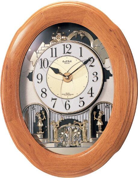 【からくり時計 壁掛け時計】掛け時計 からくり時計 スモールワールド ソルシアF 電波時計 4MN422RB06 リズム時計 からくり時計電波 【楽ギフ_包装】【楽ギフ_のし】【楽ギフ_のし宛書】【楽ギフ_メッセ入力】【楽ギフ_名入れ】:インテリア雑貨 セシセラ
