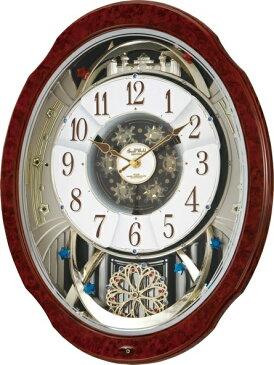 からくり時計 スモールワールド ブルームDX 4MN499RH23 リズム時計 名入れ 掛け時計 送料無料 ギフト プレゼント 誕生日 記念品 記念 出産内祝い 出産お祝い 新築お祝い 結婚お祝い 結婚内祝い 内祝い お返し
