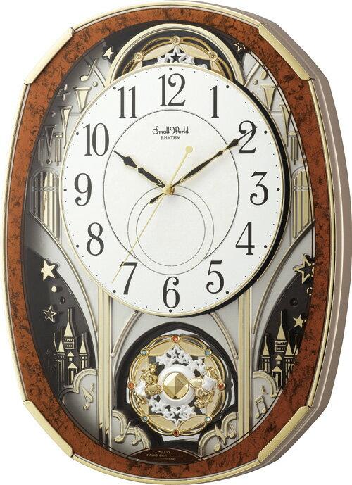 【からくり時計】名入れ 壁掛け時計 スモールワールド ノエルM 4MN513RH23 電波時計 【楽ギフ_包装】【楽ギフ_のし】【楽ギフ_のし宛書】【楽ギフ_メッセ入力】【楽ギフ_名入れ】