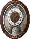 【からくり時計、壁掛け時計】スモールワールドティアモからくり電波時計4MN521RH06リズム時計