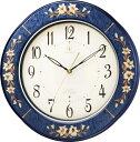 象嵌細工が美しい! RHG-M107 インタルシア掛け時計 リズムハイグレード 壁掛け時計 8…