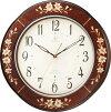 象嵌細工が美しい!RHG-M107インタルシア掛け時計リズムハイグレード壁掛け時計8MY471HG06