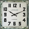 レトロでお洒落なスクエアミラー!ロジャーラッセルRogerLascelles社製掛け時計MANHATTAN-LRG