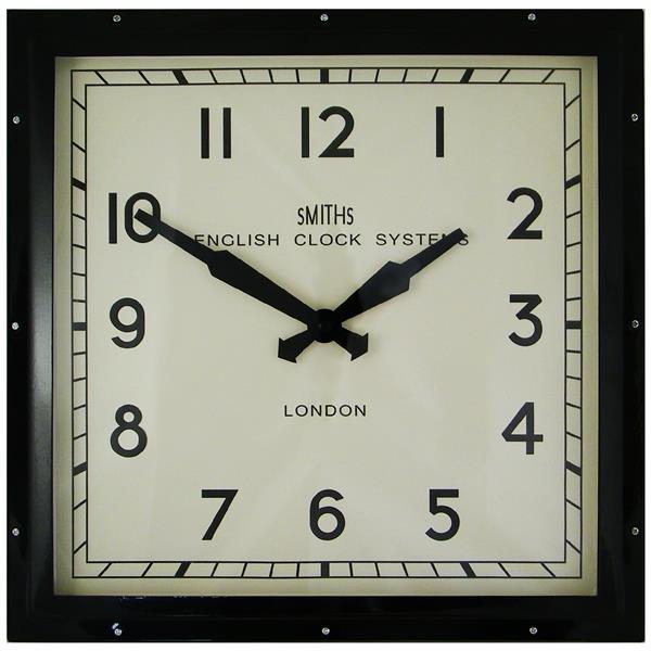 レトロデザイン!ロジャーラッセル掛け時計 RogerLascelles掛け時計 Smiths Retro Clock 41cm 壁掛け時計 SM-ENGLISH-BLACK:インテリア雑貨 セシセラ