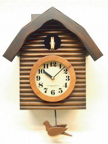 鳩時計 ハト時計 さんてる 日本製 振り子はと時計 QL650BR 国産 手作り:インテリア雑貨 セシセラ