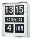 TWEMCO トゥエンコ 見やすく優れた信頼性!TWEMCO トゥエンコ 大型カレンダー時計  BQ-1700ホワイト 掛け時計