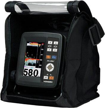 4.3型ワイドカラー液晶ポータブル魚探 HONDEX(ホンデックス) PS-500C バリューセット 【魚群探知機】