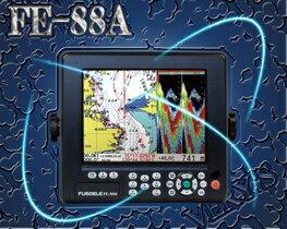 FUSO(フソー) FE-88A 2周波 600W仕様 8型LEDカラー液晶 GPS・プロッタ・魚探 【魚群探知機/GPS魚探/GPS魚群探知機】