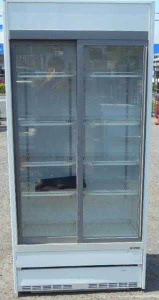 サンデン リーチイン 冷蔵 ショーケース TRM-SS30XB W90D45H190cm 315L 中ビン160本 2001年製 100V 132kg (営業所止め商品)【中古】:良品厨房 シティオ豊橋