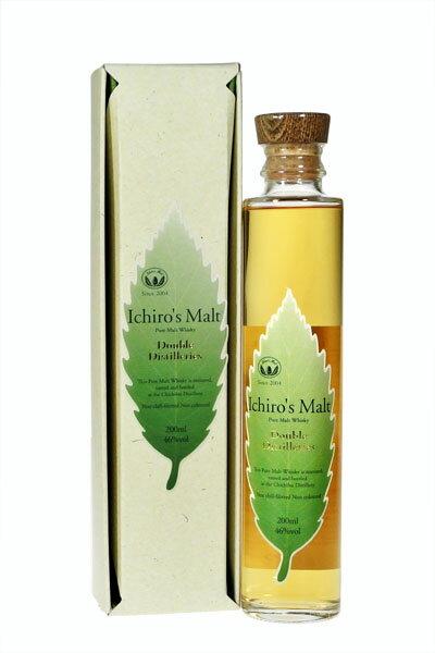 Ichiro's Malt Double Distilleries 46%. 20cl with gift package