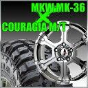 【ポイント5倍 ウインターセール】 MKW MK-36 20x8.5J+22 139.7x6穴 106.2 クールグリッター&37x12.50R20 フェデラル クーラジア MT