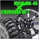 【店内全商品2倍】MKW MK-46 16x8J+17 114.3x5穴 73.1 グロスブラック&ジムニー タイヤ 205/80R16 FEDERAL COURAGIA M/T クーラジア MT