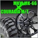 MKW MK-66 16x7J+42 114.3x5穴 73.1 ミルドサテンブラック&ジムニー タイヤ 205/80R16 FEDERAL COURAGIA M/T クーラジア MT