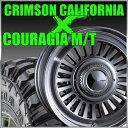 【店内全商品2倍】CRIMSON DEAN CALIFORNIA 16x6.5J-5 139.7x6穴 グレイ クリムソン ディーン カリフォルニア&ジムニー タイヤ 205/80R16 FEDERAL COURAGIA M/T クーラジア MT