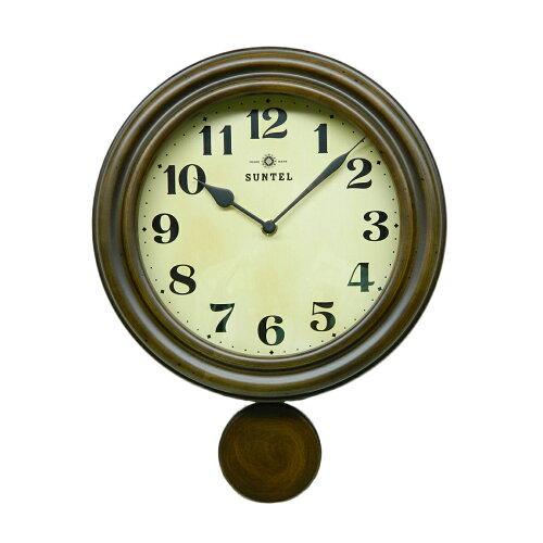 ≪ランキング受賞≫日本製 レトロ 振り子 電波時計