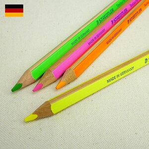 マーキングからイラストまで、蛍光カラーの太軸色鉛筆です!STAEDTLER ステッドラー テキストサ...