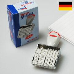 ドイツ・レイタ社ドイツ語だけど大丈夫! 回転式の日付印RHEITA レイタ デート スタンプ 日付印