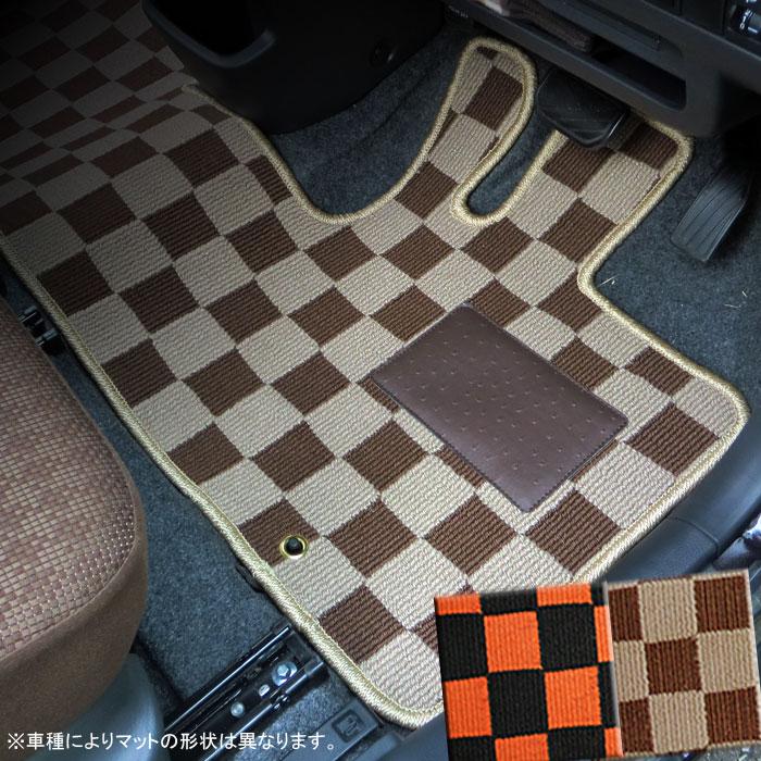ホンダ モビリオスパイク GK1/GK2 カジュアルチェックフロアマット 全座席分セット
