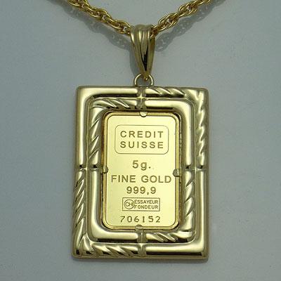 【代引き手数料、】人類の永遠の象徴を純金でレリーフした傑作 信頼のクレジットスイスのリバティー5gペンダント