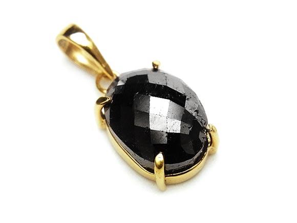 BELLPIERI▼ブラックダイヤモンド ペンダントトップ No.20【1点もの】 /:BELLPIERI