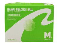 ナイガイ新規格練習球(プラクティスボール)軟式M号/J号/練習球/旧名=検定落ち(スリケン)