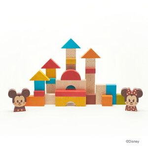 Disney KIDEA&BLOCK ミッキー&フレンズ 送料無料 積み木 出産祝い 男の子 おもちゃ 女の子 つみき 積木 知育 おすすめ 木製玩具 贈り物 プレゼント 誕生日プレゼント ギフト 子ども 子供 赤ちゃん ベビー ディズニー グッズ ブロック おしゃれ おうち時間 2歳 3歳