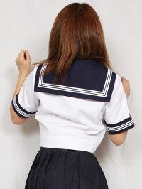 学校販売用春夏セーラー服前開半袖wcs-15