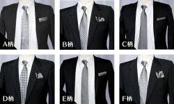 【ネクタイ】日本製/シルクモノトーン/モードフォーマル系グレー系ネクタイ◆選べる幅レギュラー/ナローネクタイセンスが光る6柄
