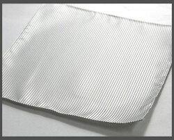 【フォーマルタイ】白グレー系チーフセット