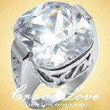 ソリティアリング / インパクトのある大きめデザイン 指輪 大粒 レディースリング 【 Crave-Love クレィヴ ラブ 】