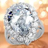 超大粒の煌きペアシェイプリング/ティアドロップ/ボリューム感たっぷり華やかな輝きの豪華リング/指輪/【Crave-Loveクレィヴラブ】