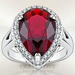 ルビーレッドカラー大粒ペアシェイプレディースリング豪華デザインボリューム感ティアドロップしずく形洋梨形女性指輪ファッションリング大きいサイズもあります。トラベルジュエリープレゼント結婚式などにも・・