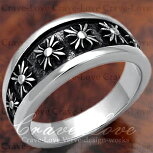 【メンズリング・男の指輪】フレアクロスメンズステンレスリング/指輪/316/GothicCrossRing【Crave-Loveクレィヴラブ】