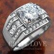 豪華デザイン メンズ ステンレス リング RM5-S 指輪 ダイヤモンド色 ジルコニア   プラチナシルバー色 幅広   男性 メンズ おしゃれ ファッション アクセサリー 大きいサイズ 大きめ もあります。【 Crave-Love メンズジュエリー 】