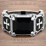 【メンズリング・男の指輪・男性】ブラックストーンクロスメンズステンレスリング|指輪BLACK|黒|十字架|CROSS|おしゃれなデザイン大きいサイズもあります。【Crave-LoveJewelrybijouxParis】