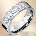8ストーン プリンセスカット ステンレス リング | 指輪 ...