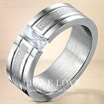 【メンズリング・男の指輪・メンズアクセサリー】メンズグリークキーステンレスリング/指輪/幅広【Crave-LoveJewelrybijouxParis】