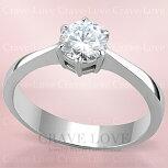 シンプルで美しい立て爪スタイル一粒レディースステンレスリング指輪女性|大きいサイズもあります。トラベルジュエリー結婚式誕生日プレゼントなどにも・・【Crave-LoveJewelrybijouxParis】