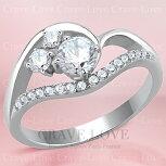 おしゃれな曲線デザインレディースステンレスリング指輪女性ファッションリング大きいサイズもあります。トラベルジュエリー結婚式誕生日プレゼントなどにも・・【Crave-LoveJewelrybijouxParis】