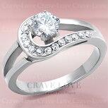 曲線エレガントデザインレディースステンレスリングおしゃれファッション指輪大きいサイズもあります。トラベルジュエリー・結婚式・誕生日プレゼントにも・・【Crave-LoveJewelrybijouxParis】