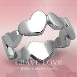 可愛いハートエタニティステンレスリング/指輪/Heart-Eternity-Ring【クレィヴラブデザイナーズニューヨークパリミラノイタリアデザイン】