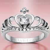 王冠の指輪/クラウンステンレスリング/ティアラ/CROWNRING/TIARARING/レディースリング【Crave-LoveJewelryBijouxParisFrance】【ビジューbijuobijoux】