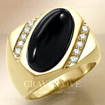 【メンズリング男の指輪メンズアクセサリー】ブラックオニキスゴールドステンレスメンズリングRM28指輪男性|黒メノウ|瑪瑙|ONYX|パワーストーン|k18ゴールドカラー|幅広|大きいサイズもあります。