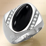 【メンズリング男の指輪メンズアクセサリー】ブラックオニキスシルバーステンレスメンズリングRM27指輪男性|黒メノウ|瑪瑙|ONYX|パワーストーン|プラチナカラー|幅広|大きいサイズもあります。