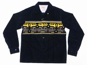 STYLE EYES[スタイルアイズ] オープンシャツ DEVIL DOG SE27723 長袖 CORDUROY SPORTS SHIRT (ブラック) 送料無料 代引き手数料無料 【RCP】