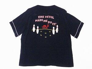 STYLE EYES[スタイルアイズ] ボウリングシャツ SE38077 RED DEVIL ボーリングシャツ (ブラック) 送料無料 代引き手数料無料 【RCP】