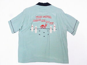 STYLE EYES[スタイルアイズ] ボウリングシャツ SE38077 RED DEVIL ボーリングシャツ (ミントグリーン) 送料無料 代引き手数料無料 【RCP】