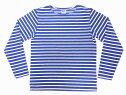 Pherrow's[フェローズ]バスクシャツ20S-CedricインディゴボーダーロンT